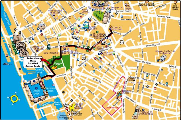 Plano turístico de la ciudad