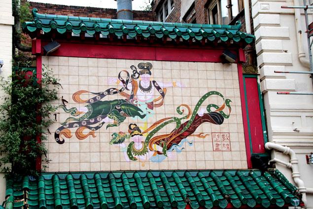 Fachada de edficio en Chinatown