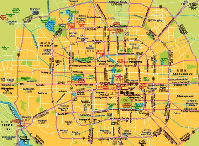 Mapa Turistico De Toulouse.Pekin China Informacion Y Mapa