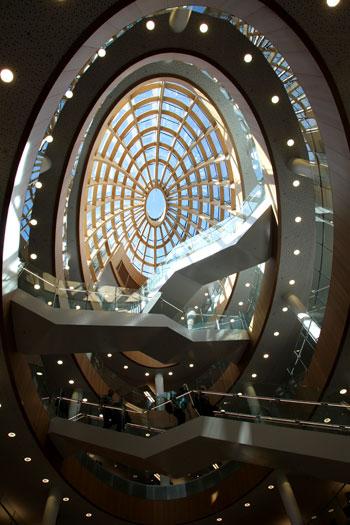 Interior de la zona moderna