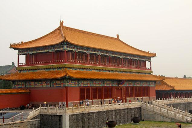 Parte de la enorme Ciudad Prohibida (Que ver en Pekin)