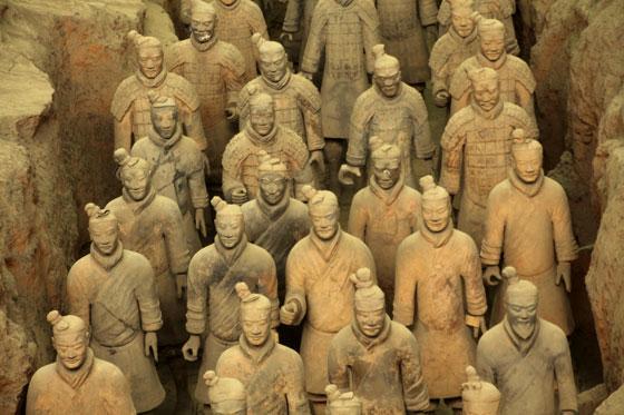 guerreros de Xian , itinerario por China