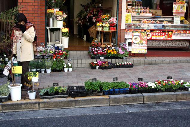 Tienda de flores en Kagurazaka