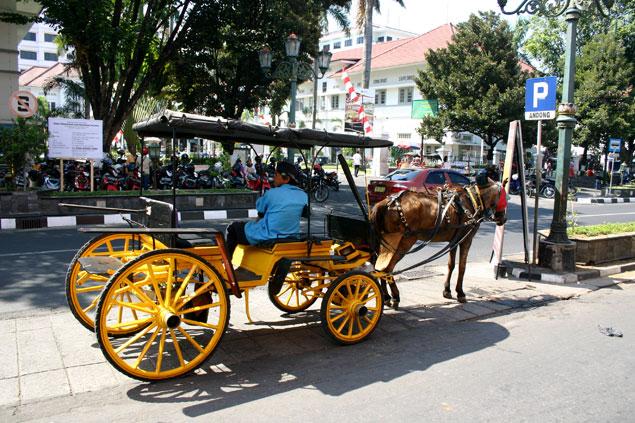 Coche de caballos en Jl Malioboro