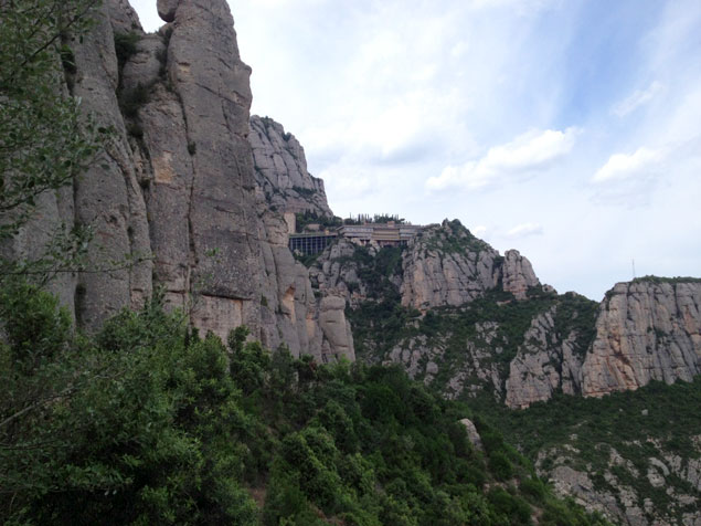 Tramo del recorrido , con vistas de Montserrat