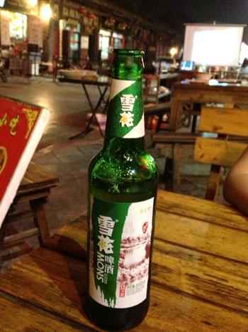Cerveza Snow en Pingyao
