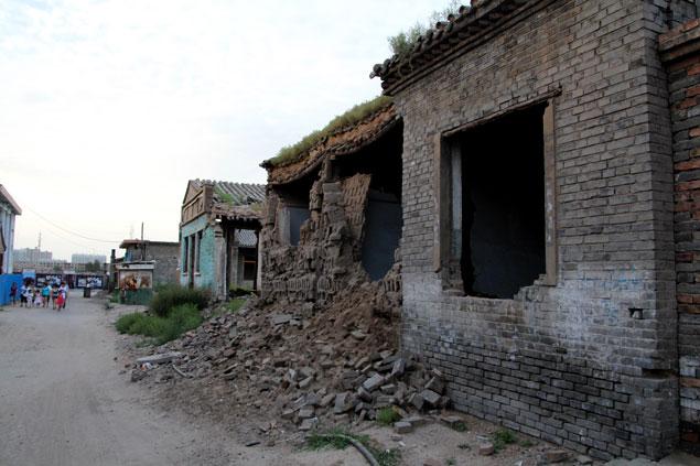 Ciudad llena de escombros