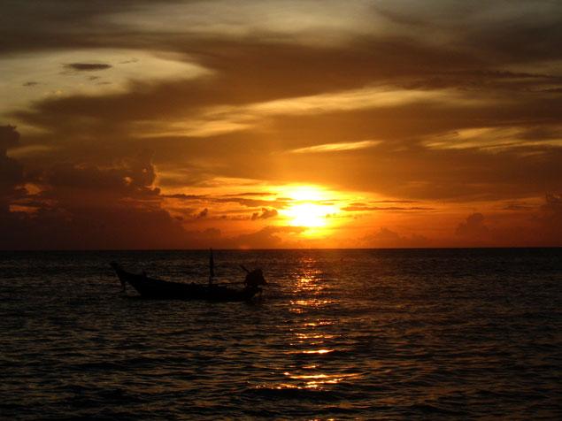 Atardecer en la isla de Koh Tao