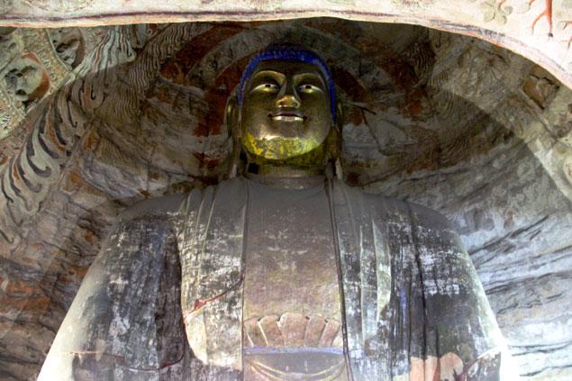 Gran Buda con el rostro dorado