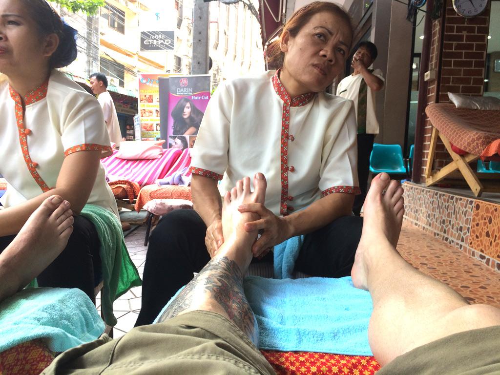 masaje en Khao San Road