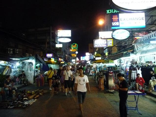 Calle de mochileros ,Khao San Road