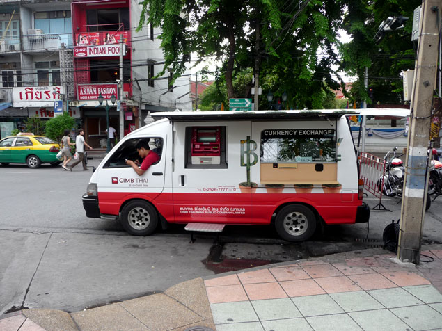 Oficina movil para cambio de dinero