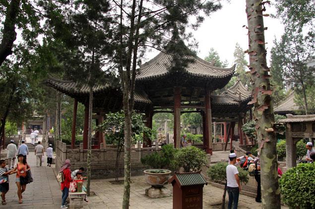 Plaza central con estilo chino