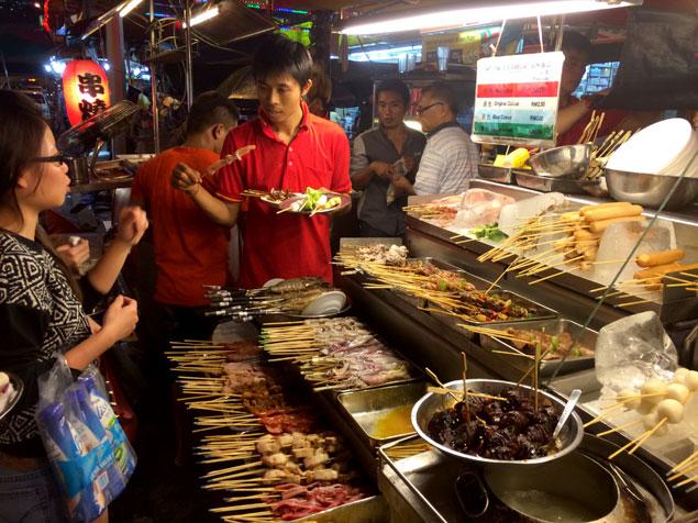 Comida en abundancia en las calles