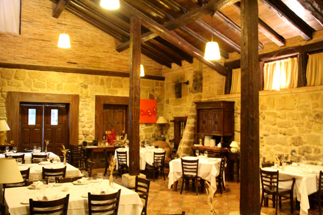 Una de las salas del restaurante