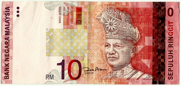 Billete de 10 Ringgit