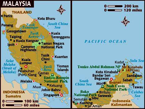 malasia mapa Malasia (información y mapa) malasia mapa