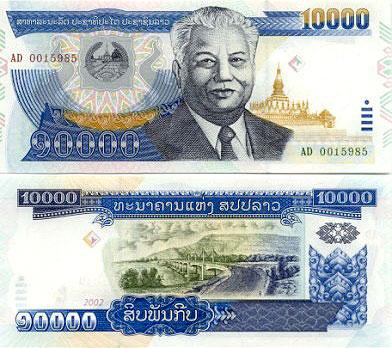Moneda y cambio Laos