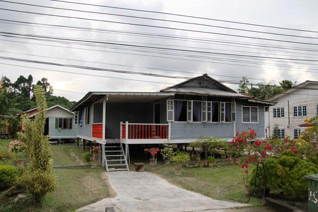 Casas típicas en Kuching