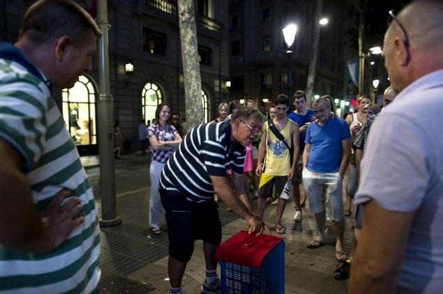 Trilero en Barcelona