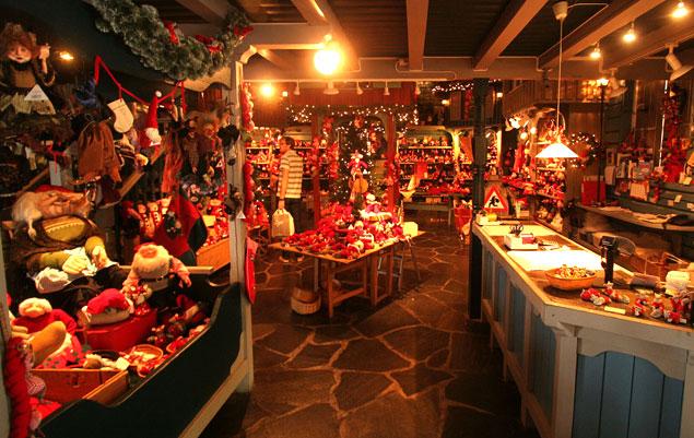 Interior de la tienda de Santa Claus