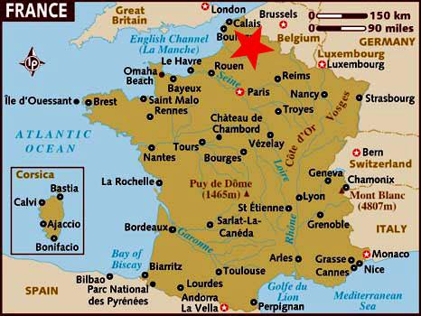 Ubicación de Nord-pas de Calais