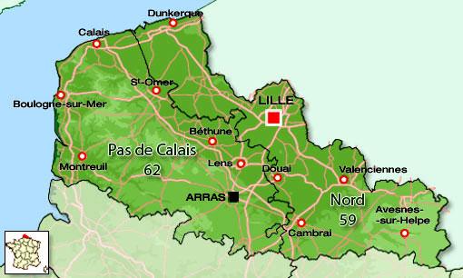 Extensión de Nord-Pas de Calais