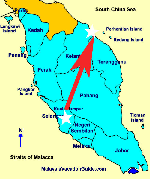 Recorrido Kuala Lumpur /Islas Perenthian pasando por Kota Bharu