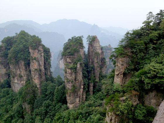 Vistas de Zhangjiajie