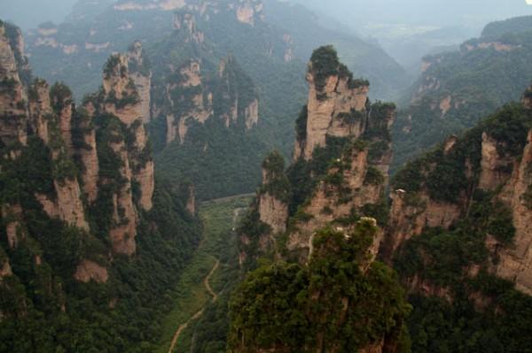 Montañas del parque natural de Zhangjiajie