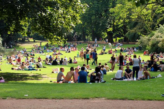 Uno de los parques de Lille