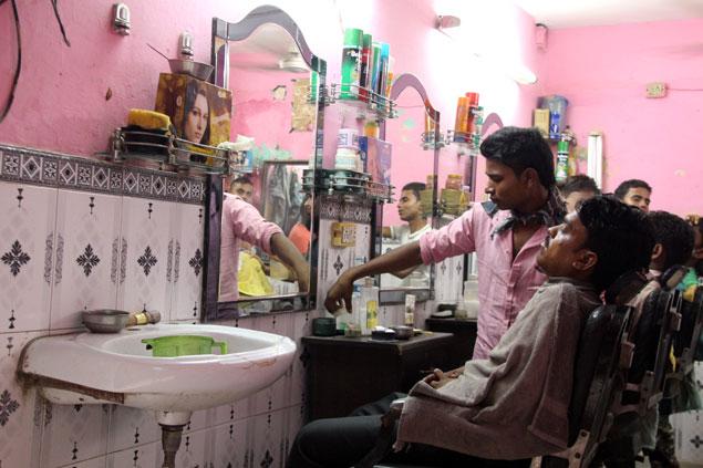Peluqueros de la India