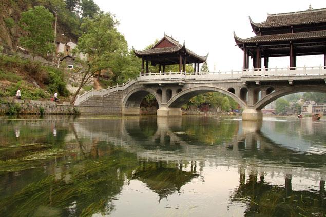 Uno de los puentes de Fenghuang