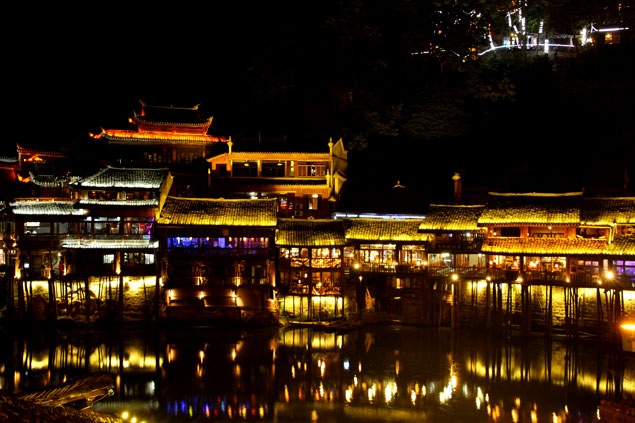 La noche en Fenghuang
