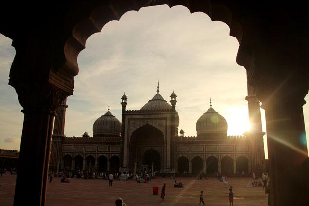 Jama Masjid desde uno de los porches