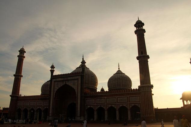 Atardecer en el Jama Masjid