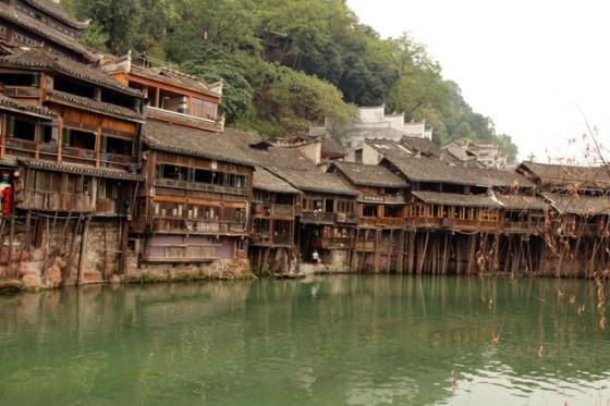 Las casas sobre pilares de Fenghuang