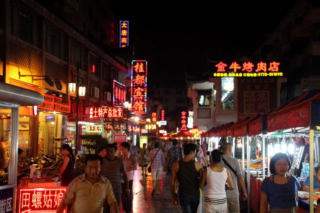 Mercado nocturno de Guilin