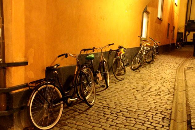 Calles adoquinadas y bicis