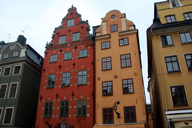 Casas de colores en Stortorget