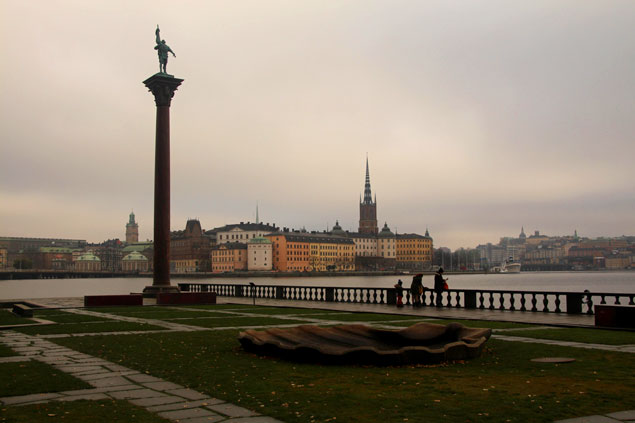 Vistas desde el ayuntamiento de Estocolmo