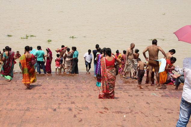 Uno de los ghats de Calcuta