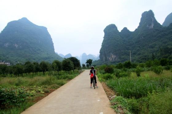 Recorrer Yangshuo en bicicleta