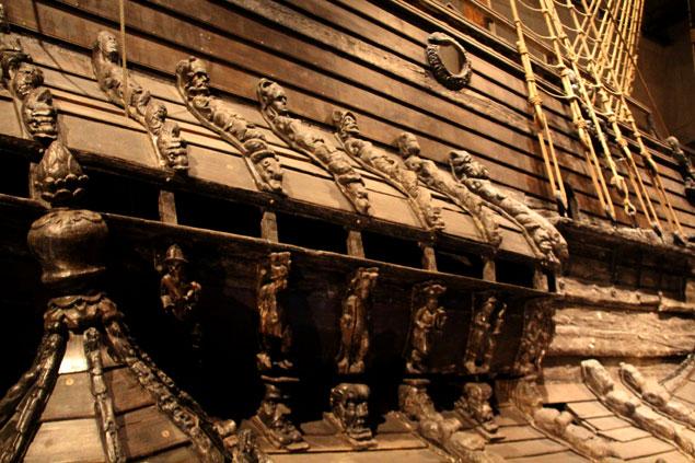 Estado del barco del Museo Vasa