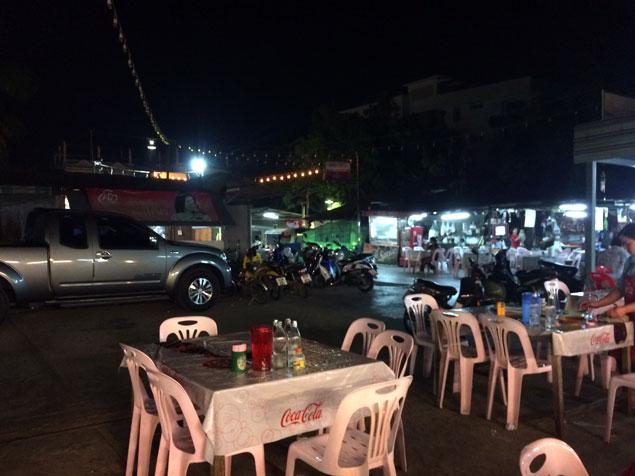 Mercado nocturno de comida