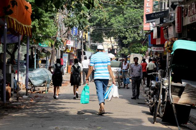 Una calle muy dinámica (que visitar en Kolkata)