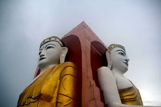 4 Buda Myanmar in Bago