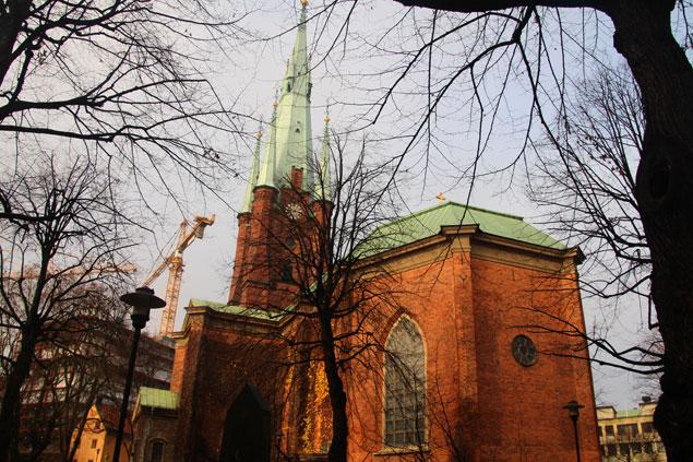 Edificio de la iglesia de Santa Clara de Estocolmo