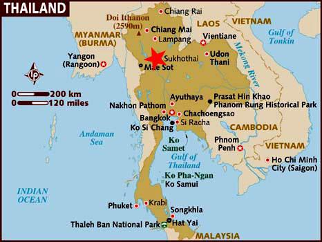 Ubicación Sukhothai