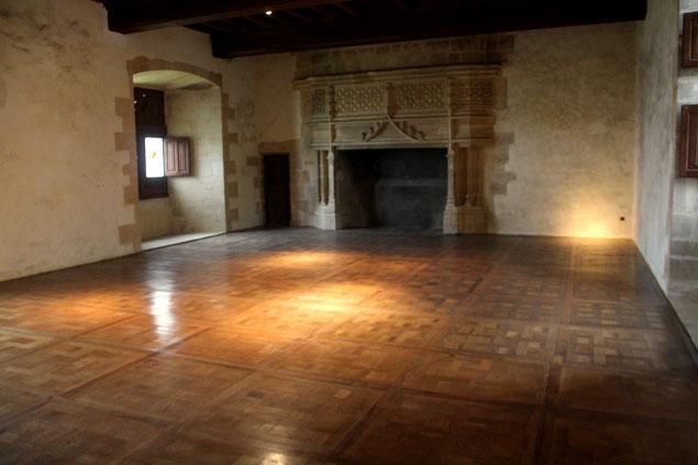 Uno de los salones del castillo